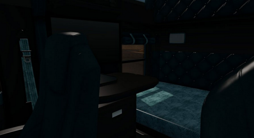 kenworth t680 black teal interior mod download american truck simulator mods. Black Bedroom Furniture Sets. Home Design Ideas